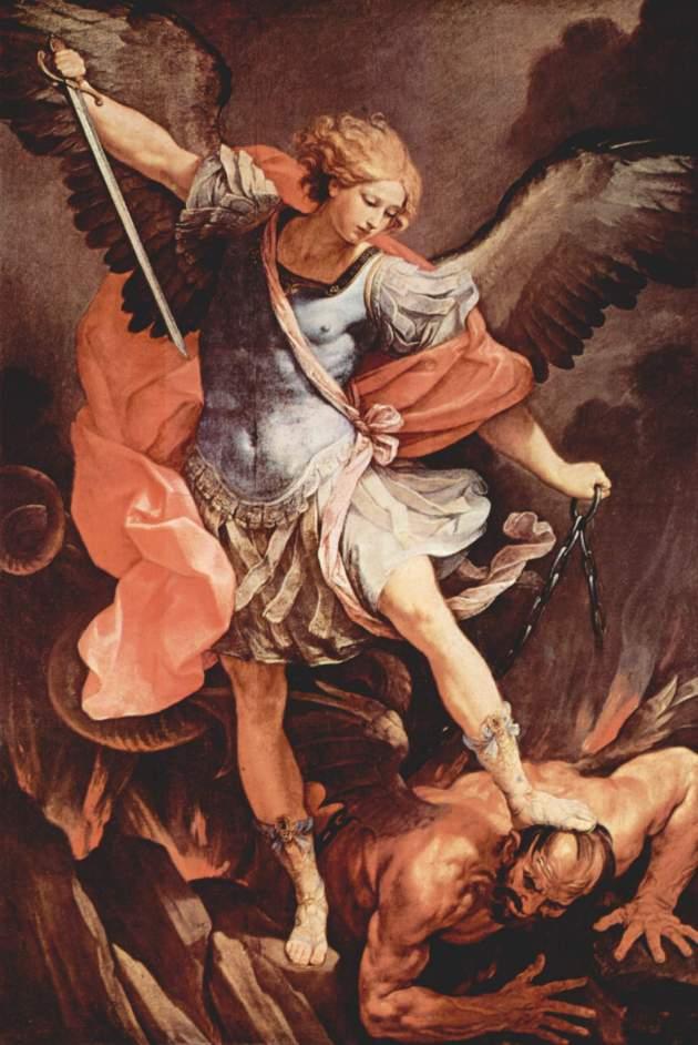St Michael Archangel Trampling Satan Guido Reni