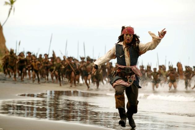 Jack Sparrow running