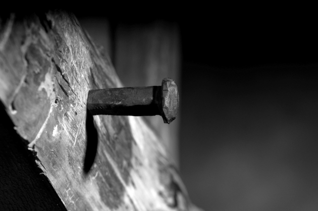 nail in the cross